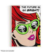 "Pop Art and Vintage Poster Print By Urban Willow | Trendy Andy Warhol Wall Art, Dope Posters, Cool College Posters, Dorm Wall Decor, Cool Wall Art, Unframed/Frameable, 12"" x 16"" (The Future is Bright)"