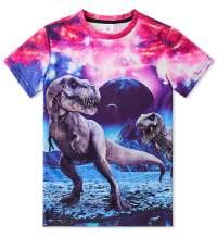 Funnycokid Boys Girls 3D Printed Graphic T-Shirt Kids Teenagers Short Sleeve Tee Shirts 6-16 Years
