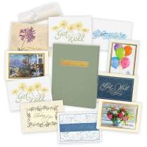 Get Well Cards Assortment Box (35 Greeting Cards) - with Foil and Embossing