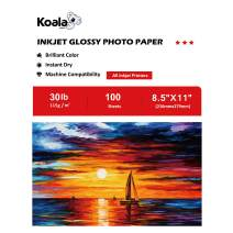 Koala Glossy Thin Inkjet Paper 8.5x11 Inches 100 Sheets Compatible with Inkjet Printer Use DYE INK 115gsm