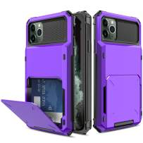 Yunerz Compatible iPhone 11 Pro Max Case, iPhone 11 Pro Max Wallet Dual Layer Protective Case with Card Holder Slot for iPhone 11 Pro Max 2019 6.5inch(purple)