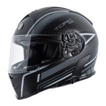 TORC Unisex-Adult Full Face helmet (Flat Black Scramble Grey, Medium)