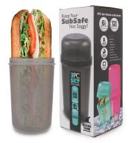 SubSafe Sub Sandwich Container – This Reusable Sandwich Container Keeps Your Sub Safe, Not Soggy – Ideal Boating Accessories and Cooler Accessories – As Seen On Shark Tank, Makes a Great Gift