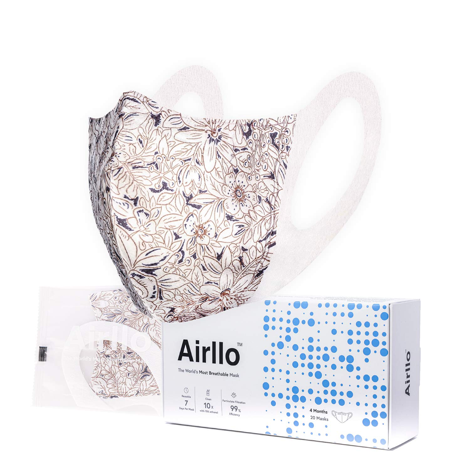Airllo Adult Face Masks Reusable Disposable Individually Wrapped HAYLEY