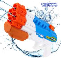 ANDSTON Water Gun for Kids, Squirt Guns with Large Capacity 1200CC Water Blaster Soaker Up to 10M Range, Water Shoot Toys for Boys Swimming Pools Guns Beach Party Favor Shooter Fight Play Toys