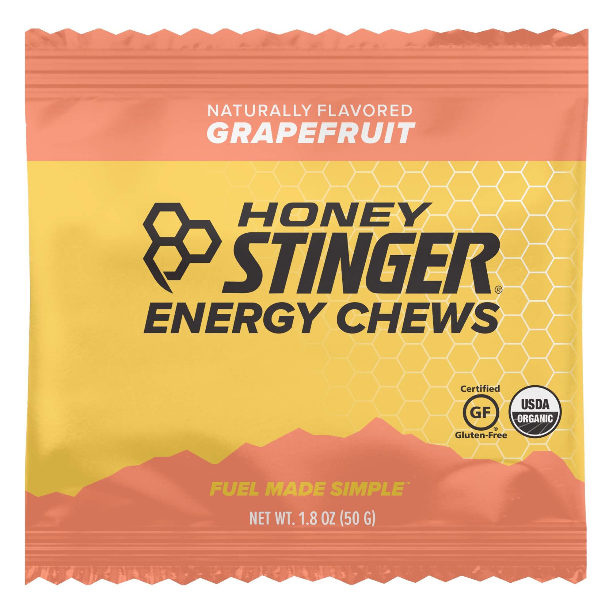Honey Stinger Organic Energy Chews, Grapefruit, Sports Nutrition, 1.8 Ounce (Pack of 12)