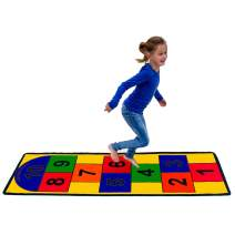 "Learning Carpets Hopscotch Play Carpet for Kids, Indoor/Outdoor Equipment, 79"" x 26"" Playmat Rug, Classroom Furniture for Daycare/Preschool/Playroom"