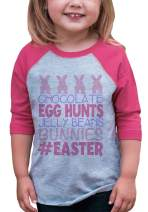 7 ate 9 Apparel Baby Girls #Easter Happy Easter Pink Raglan