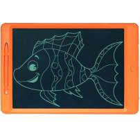 LCD Writing Tablet Doodle Writing Board erasable and Reusable Drawing pad Gifts for Kids, Adults and Students with Lock Button (11.5 inch, Orange-1)