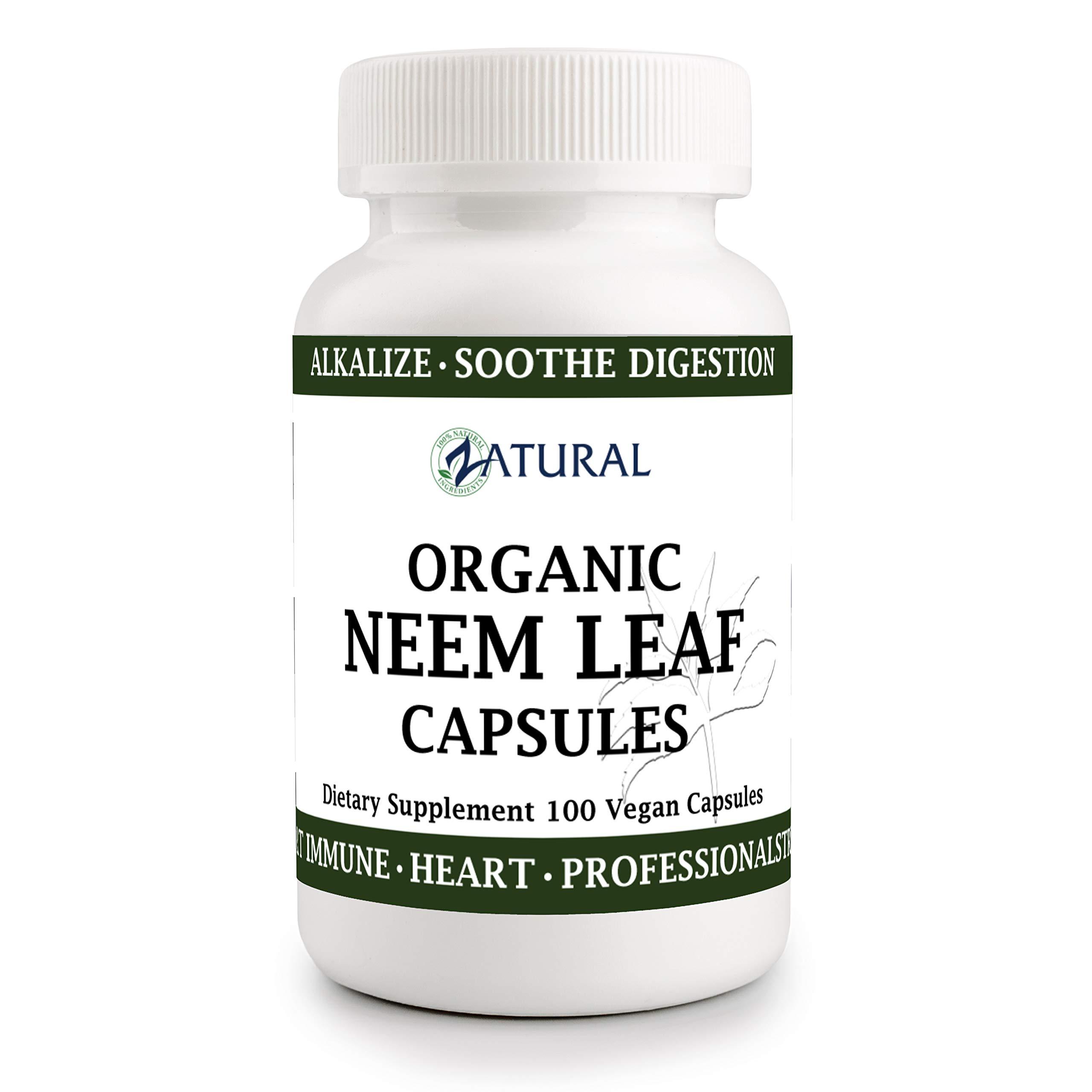 Organic Neem Leaf Capsules USDA Certified Organic (100 Capsules)_Digestive Health_Gut Health