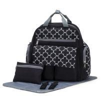 SoHo Bedford Diaper Bag Backpack 4Pc Set, Black