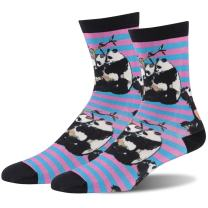 Novelty Bamboo Crew Socks, J'colour Crazy Fun Animal Print Casual Dress Socks