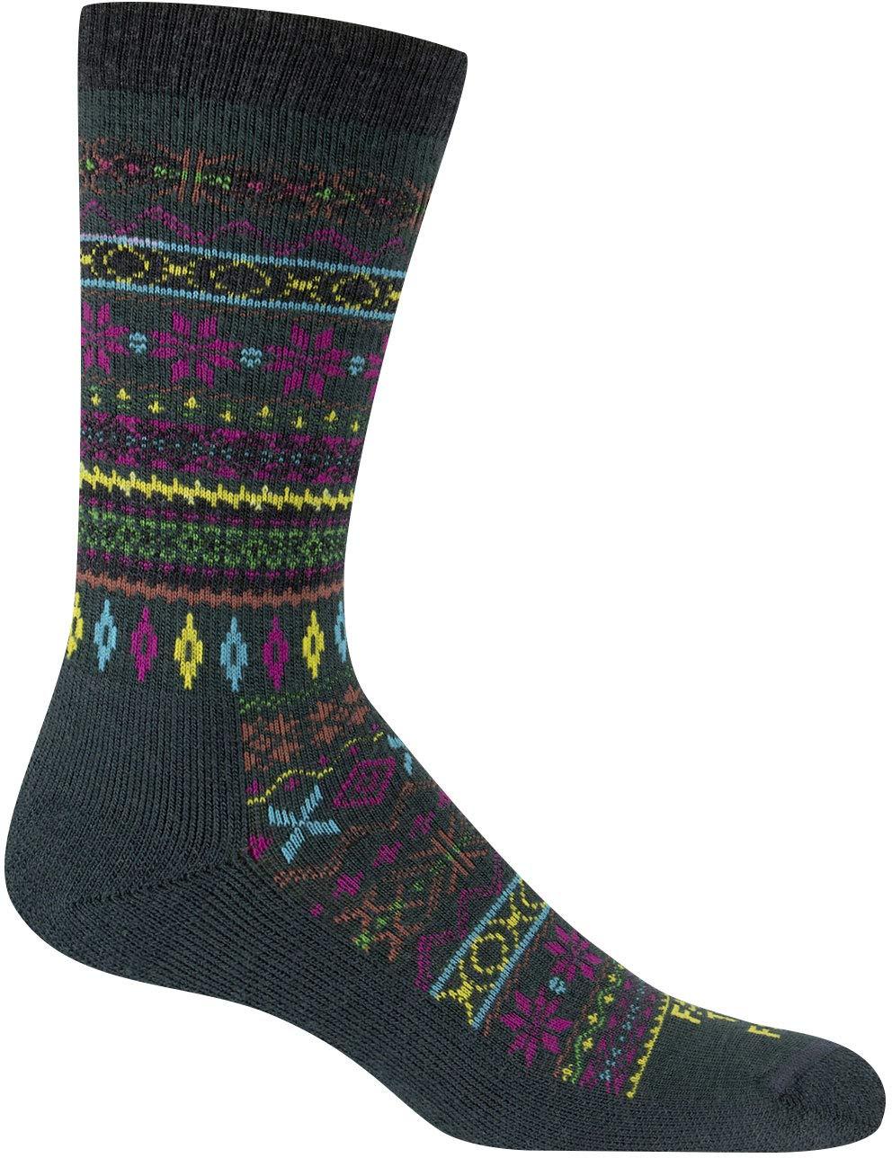 Farm to Feet Women's Lightweight Hamilton Fair Isle Crew Merino Wool Socks