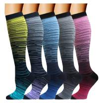Copper Compression Socks For Men & Women(5 Pairs)- Best For Running,Athletic,Medical,Pregnancy and Travel -15-20mmHg