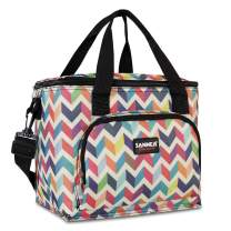 HOMESPON Cooler Bag Insulated Lunch Bag Cooler Lunch Container Thermal Cooler Pack Lunch Box Picnic Bag Cooler Tote Bag-10L (Wave Print)