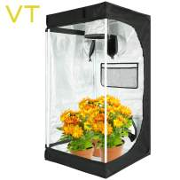 """VERTOR VT 24""""x24""""x48"""" Hydroponic Mylar Grow Tent with Observation Window, Tool Bag and Waterproof Floor Tray Flower Plant Growing 2x2 (for 1plant)"""