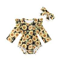 Infant Baby Girls Floral Romper Bodysuit Sleeveless Jumpsuit Outfit Summer Clothes