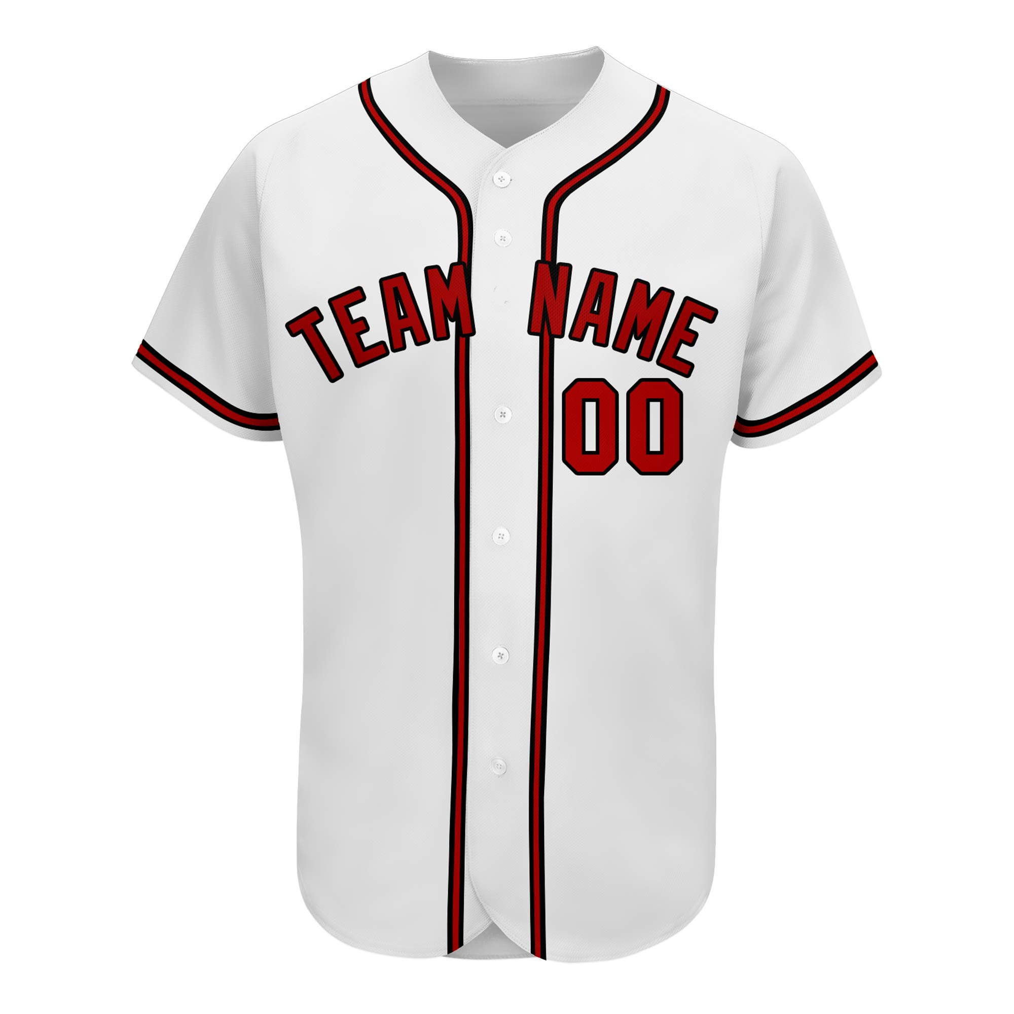 Custom Baseball Jersey with Embroidered Team Player Name Numbers Big Size Breathable for Men Women Youth