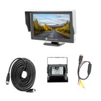 EchoMaster - RV Backup Camera and Monitor Kit - Includes Commercial Camera, Monitor, and Install Wires/Brackets/Cables
