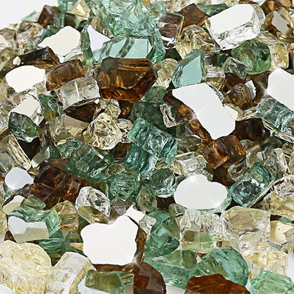 Starfire Glass 10-Pound Fire Glass Fire-Drops 1//2-Inch Copper Reflective