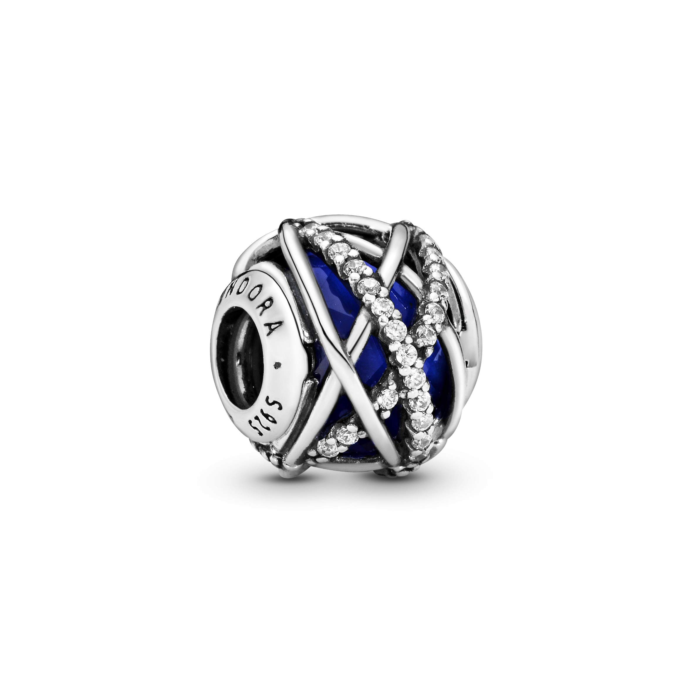 Pandora Jewelry Blue Galaxy Crystal and Cubic Zirconia Charm in Sterling Silver