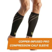 CopperJoint Compression Calf Sleeve – Copper-Infused High-Performance Design, Promotes Proper Blood Flow, Offers Superior Compression and Support for All Lifestyles - Pair