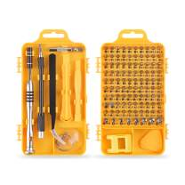 Screwdriver Set,110 in 1 Precision Screwdriver Set Multi-function Magnetic Repair Tool Kit Compatible with iPhone/Cellphone/Computer/Tablet/PC/Electronic etc (yellow)