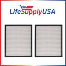 LifeSupplyUSA 2 HEPA Filters Complete Replacement Set Compatible with AIRMEGA Max 2 Air Purifier 300/300S