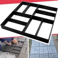 "Anothera 15.7""x15.7""x1.57"" Concrete Molds Reusable Walk Maker Pathmate Stone Molding Stepping Stone Path Maker Paver Yard Patio Lawn Garden DIY Walkway Pavement Brick Moulds (8-Grid)…"