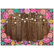Allenjoy 7x5ft Fiesta Wood Floral Backdrop for Photography Mexican Festival Theme Birthday Party Decoration Cinco De Mayo Flower Banner Wedding Bridal Baby Shower Background Photo Booth Props Supplies