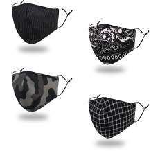 3D Ergonomic Designing Face Mask, Breathable and Comfortable for Wearing, Adjustable Earloop,Washable Cotton Fabric
