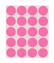 ChromaLabel 1 Inch Round Removable Color-Code Dot Stickers, 1000 Pack, 20 Labels per Sheet, Rose