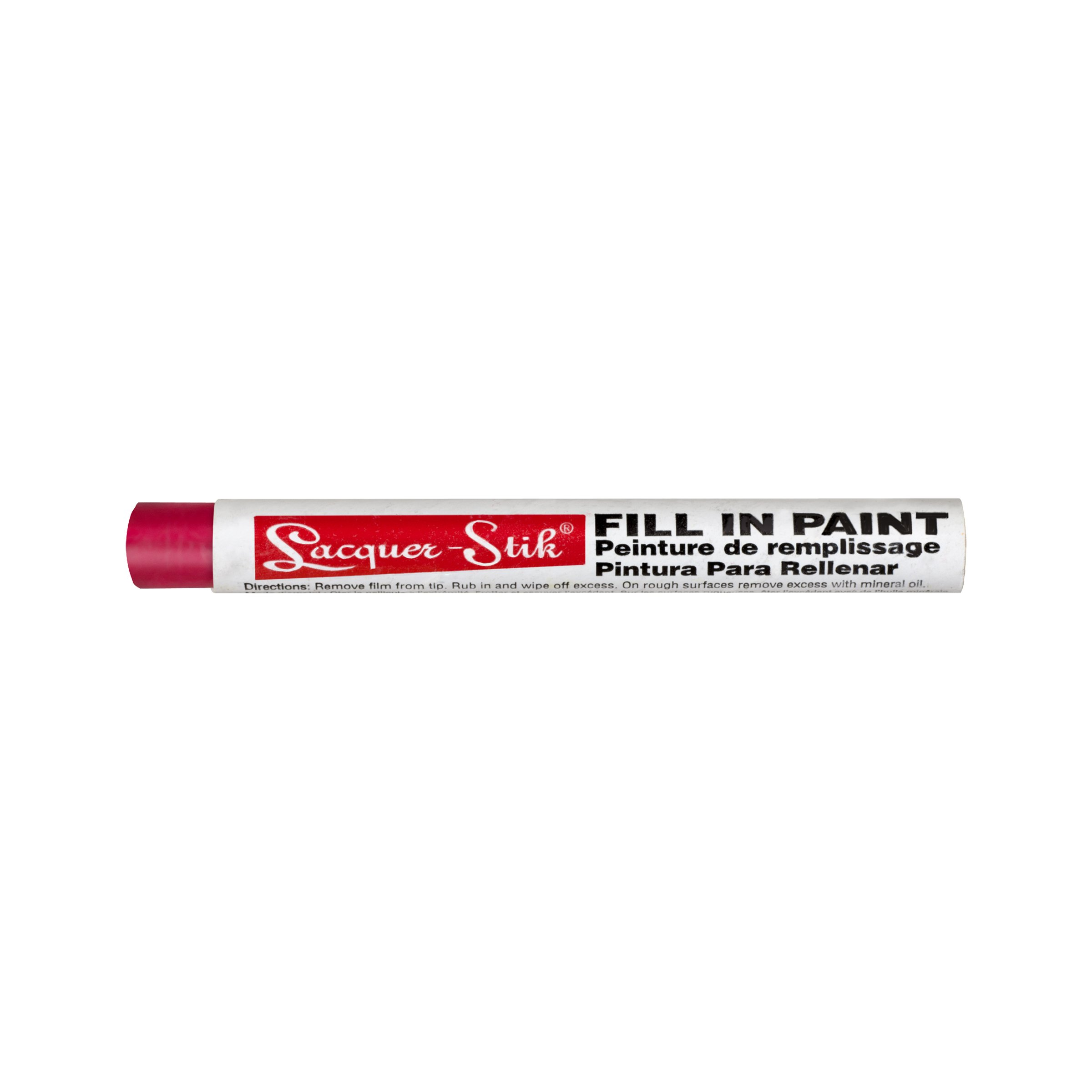 """Markal Lacquer-Stik Highlighter Fill-In Paint Crayon, 3/8"""" Diameter, 4-1/4"""" Length, Red (Pack of 12)"""