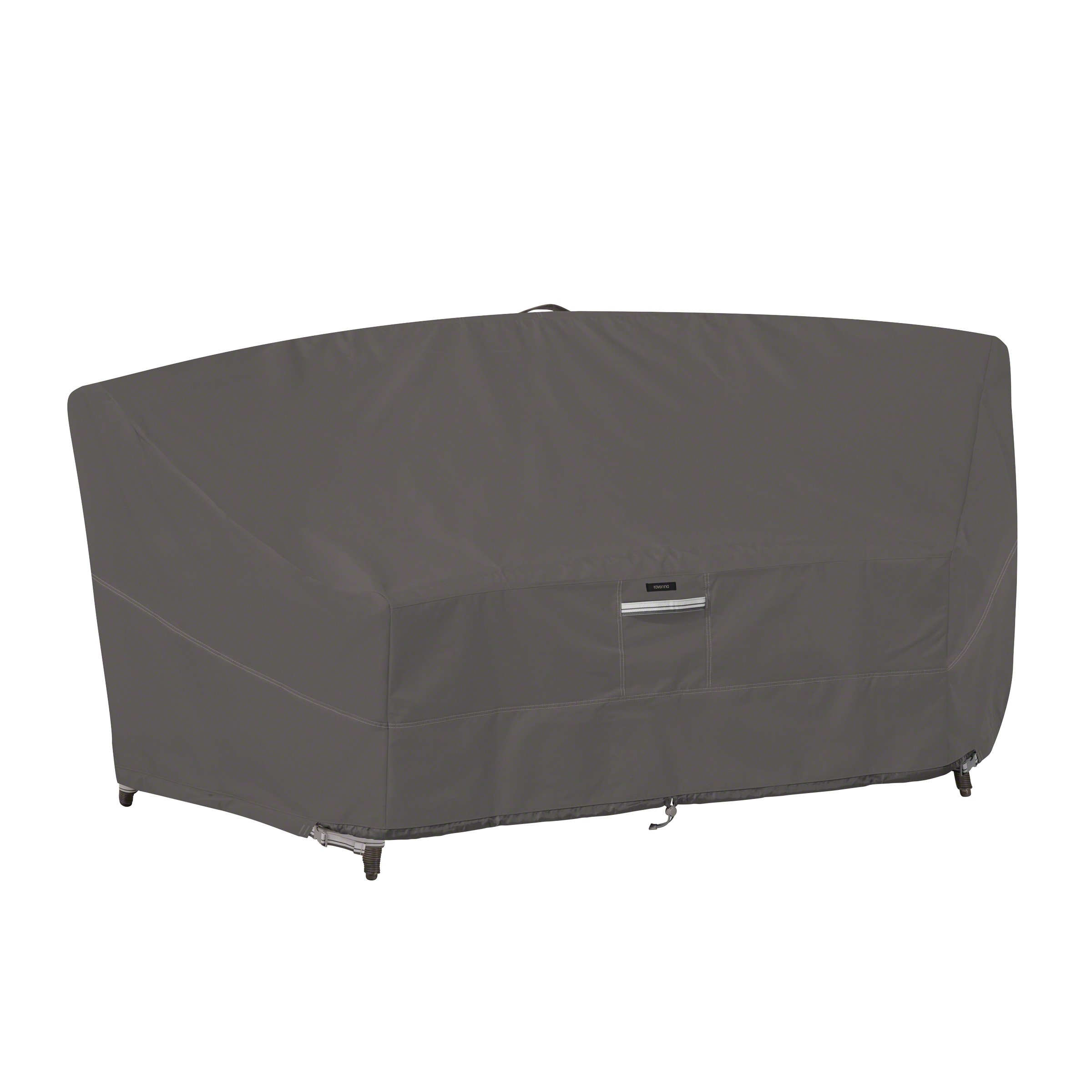 Classic Accessories Ravenna Water-Resistant 46 Inch Patio Curved Modular Sectional Sofa Cover