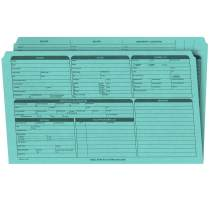 Real Estate Listing Folder – Right Panel List, Pre-Printed on Durable Card Stock with Closing Checklist and Color-Coded Dots for Organizing (Blue, Legal Size | Pack of 25)