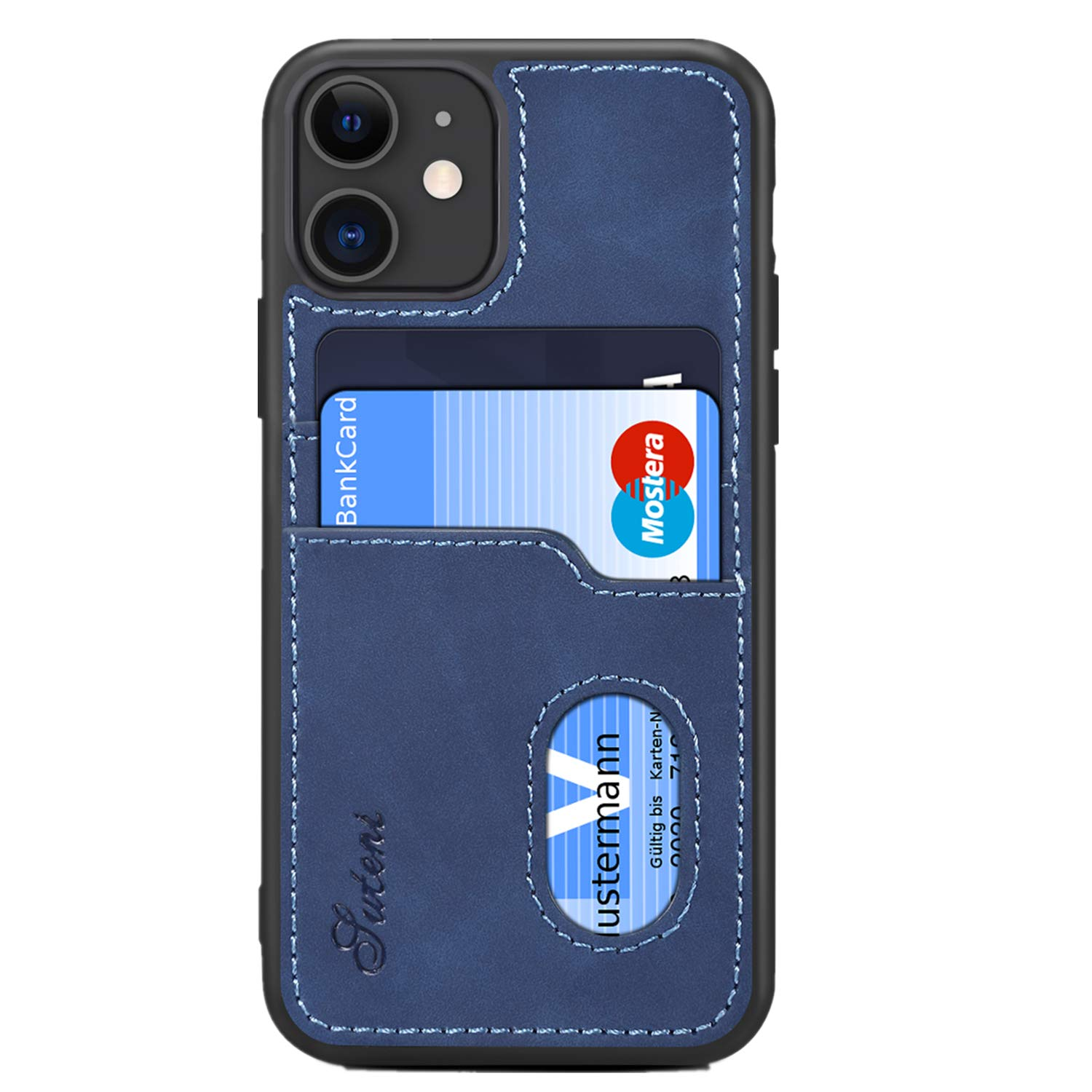 SUTENI iPhone 11 Wallet Case, iPhone 11 Wallet Slim Case with Credit Card Holder, PU Leather Shockproof Wallet Case for iPhone 11 (2019) 6.1 inch (Blue)
