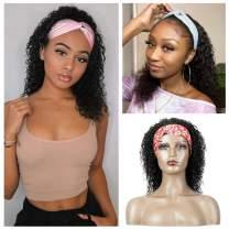 S-Show Headband Wig Human Hair, Water Wave Human Hair Wigs for Black Women ,Glueless Wigs Easy to Wear 150% Denisty Brazilian Virgin Hair Wigs Natural Black (16 inch, Water Wave Headhand Wig)