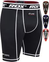 RDX MMA Thermal Compression Shorts Men's Base Layer Groin Cup Boxing Training Guard Fitness Running Exercise
