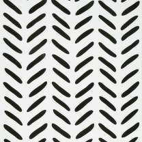 Removable Wallpaper Peel and Stick Black/White Wallpaper 17.7 in X 118 in Thickened Easy to Use Used for Home Decoration