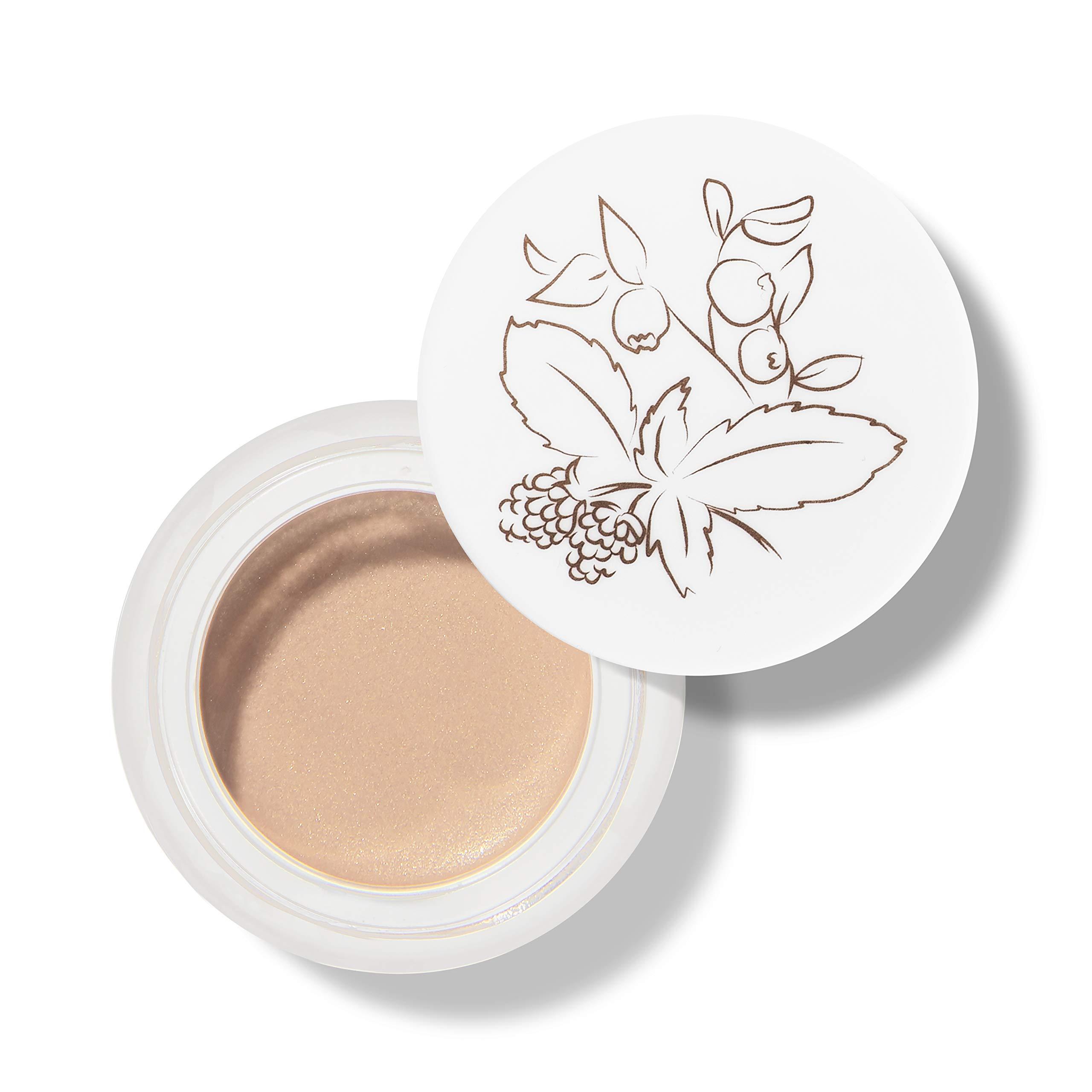 100% PURE Satin Eye Shadow (Fruit Pigmented), Tahiti, Cream Eyeshadow, Shimmer, Long Lasting Eye Makeup, Vegan, Natural Makeup (Warm, Peach Sheen) - 0.17 Oz