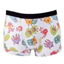 Santa Playa Scaredy Monsters Super Soft Breathable Boxer Brief Trunk, Fun Print Men's Underwear :: Ice Cream