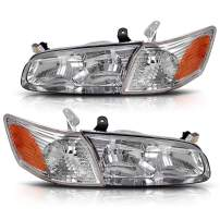 AUTOSAVER88 Headlight Assembly Compatible with 2000 2001 Toyota Camry Headlamps+Amber Corner Lamps