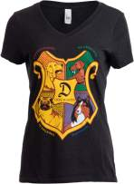 Dogwarts School of Canine Wizardry | Funny Dog Mom Joke V-Neck T-Shirt for Women-(Vneck,S) Vintage Black