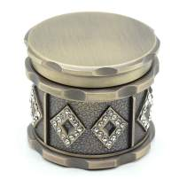 SNVIN Retro-Style Herb Grinder with Small Diamonds for Grinding Herbs and Leaves