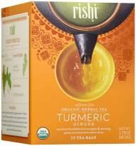 Rishi Tea Organic Caffeine Free Tea Bags, Turmeric Ginger, 15 Count