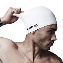 VANTOO Silicone Swimming Cap for Long Hair - XL Swim Cap for Women Men Youth Adult Kids -Premium Waterproof Diving Hat Swimming Equipment Hats - Keeps Hair Clean Ear Dry