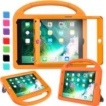 """AVAWO Kids Case for New iPad 9.7"""" 2018 & 2017 & iPad Air 2 - Built-in Screen Protector Shockproof Case Convertible Stand with Handle for iPad 9.7 Inch (2018 6th Gen) & (2017 5th Generation) - Orange"""