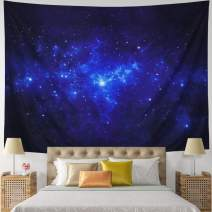 """Leofanger Tapestry Galaxy Tapestry Universe Milky Way Wall Tapestry Night Starry Sky Wall Hanging Tapestry Trippy Space Celestial Tapestry for Bedroom Living Room Dorm(XLarge-92.5""""x70.8"""", Starry Sky)"""