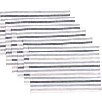 VHC Brands Farmhouse Tabletop & Kitchen - Blake White Table Décor, Placemat Set 12x18, Grey