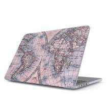 Glitbit Hard Case Cover Combatible with MacBook 12 Inch Case Model: A1534 (Release-2015/2016 / 2017) with Retina Display Map of The World Explore Globe Travel Wanderlust Road Trip Lets Go